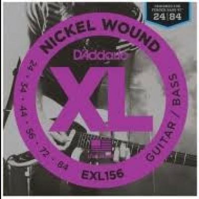 EXL156 Nickel Wound Bass VI Strings (24-84)