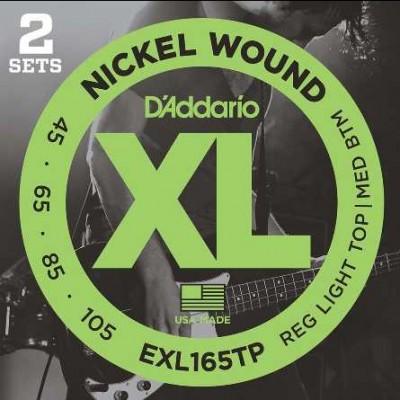 Daddario EXL165TP 2 Pack Bass XL 45-105 Long