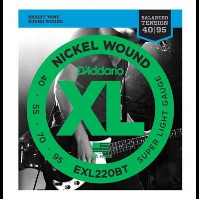 D'Addario EXL220BT Balanced Tension Bass Super Light (45-107)