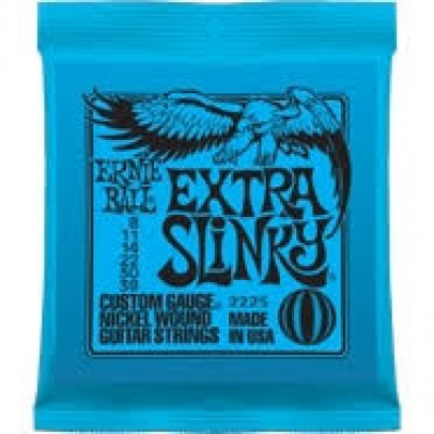 Extra Slinky Electric Guitar Strings 8 to 38