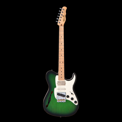 Fret-King Black Label Country Squire Semi-Tone Special (Ash Green Burst)