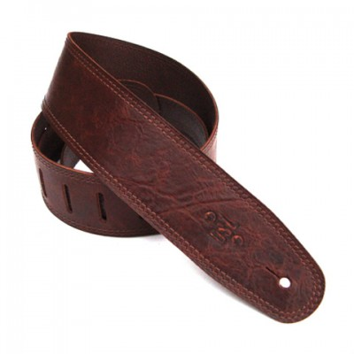 DSL Distressed Brown 2.5inch Guitar Strap