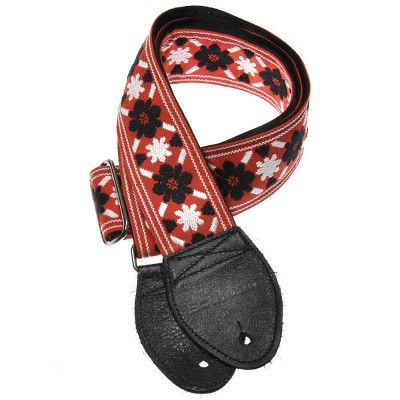 Souldier Guitar Strap Tulip Black/Red