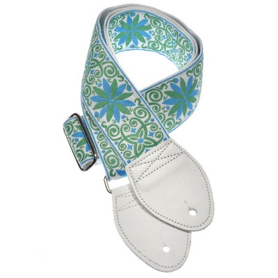 Souldier Guitar Strap Miami Turquoise & Lime