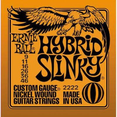 Ernie Ball Hybrid Slinky Electric Guitar Strings 9 to 46