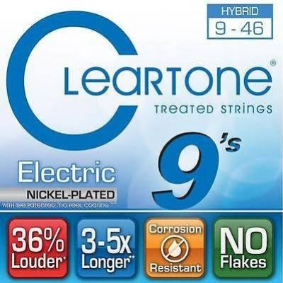 Cleartone Hybrid Coated Electric Strings 9-46