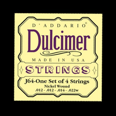 Daddario J64 Dulcimer Nickel 4-String