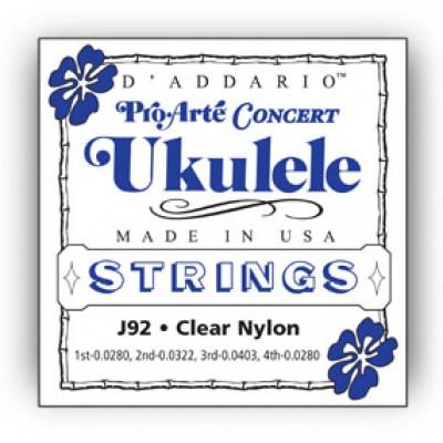 Daddario J92 Pro-Arte Ukulele, Concert
