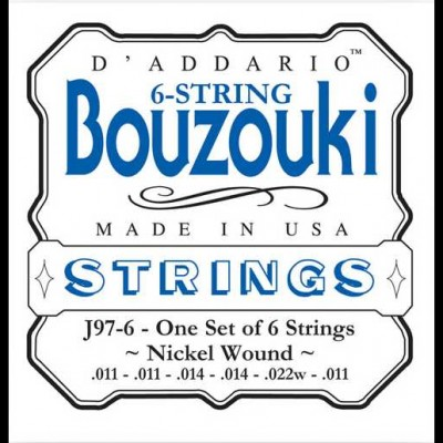 Daddario J97-6 Greek Bouzouki, 6-String, Nickel Wound