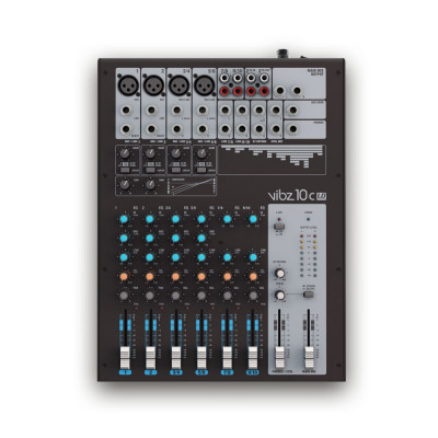 LD Systems 10 Channel Mixing Console with Compressor - VIBZ 10 C