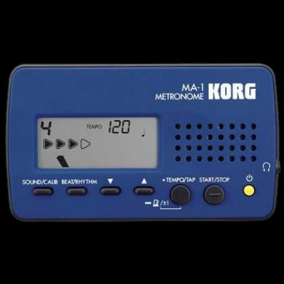 Korg LCD Digital Metronome MA-1 in Blue & Black