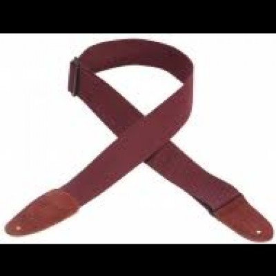 Levys MC8-BRG 2 Inch Cotton Guitar Strap (Burgundy)