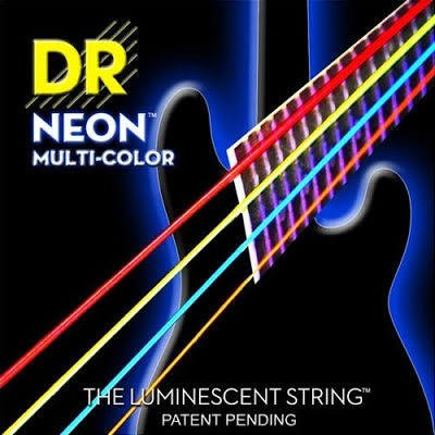 DR  4-String Neon HiDef Multi-Colour 45-105 Long Scale