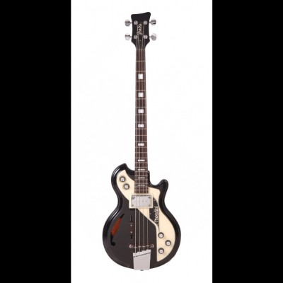 Italia Mondial Classic Series Electric Bass, Black