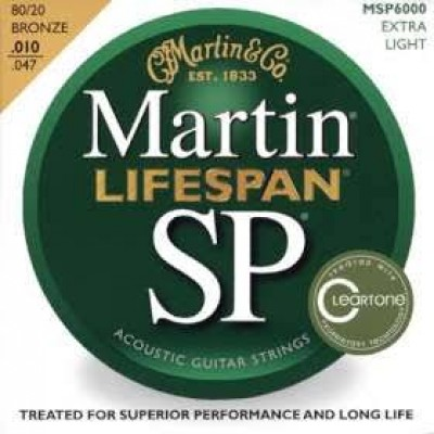 Martin MSP6000 Lifespan SP 80/20 Bronze Acoustic Extra Light