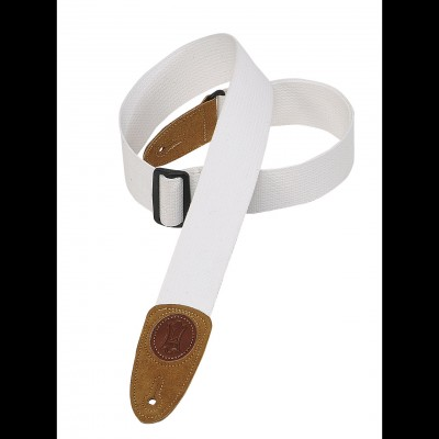 Levy's Cotton Guitar Strap (White) MSSC8-WHT