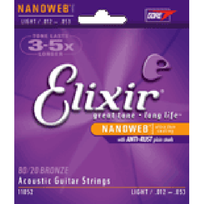 Elixir Acoustic 80/20 Bronze, Nanoweb Coating