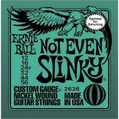 Ernie Ball Not Even Slinky Nickel Guitar Strings 12-56