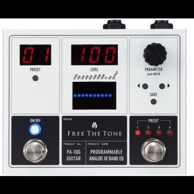 Free The Tone PA-1QG Programmable 10 Band EQ for Guitar