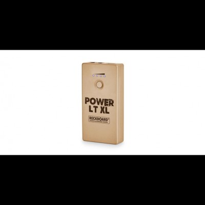 RockBoard Power LT XL - Rechargeable Effects Pedal + Mobile Power Bank, Gold