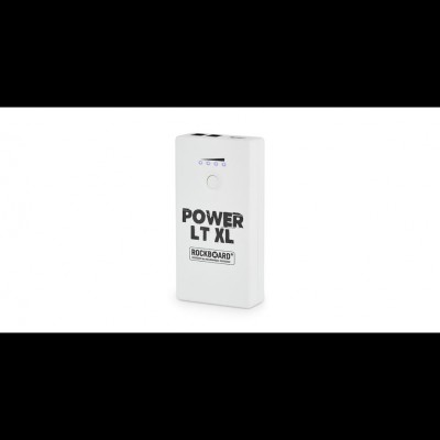 RockBoard Power LT XL - Rechargeable Effects Pedal + Mobile Power Bank, White Satin