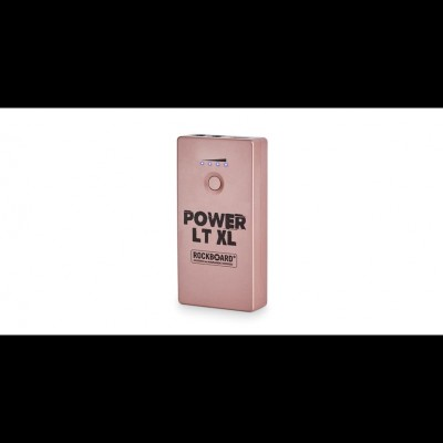 RockBoard Power LT XL - Rechargeable Effects Pedal + Mobile Power Bank, Rose Gold