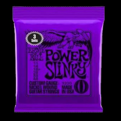 Ernie Ball 3 Pack Power Slinky Strings (11 - 48)