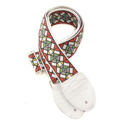 Souldier Guitar Strap Stained Glass, White/Red