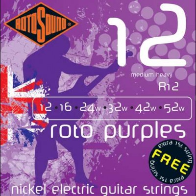 Rotosound R12 Purple, Nickel Electric Strings, 12-52