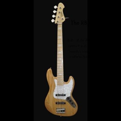 Revelation   RBJ-67-Deluxe Bass 5 String (Natural)