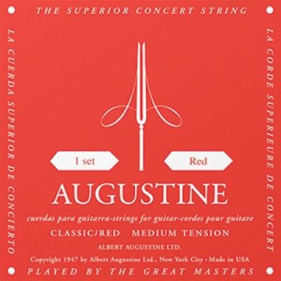 Augustine Red Label Classical Guitar Strings - Regular Trebles
