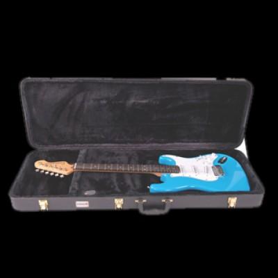 Kinsman CSG6 Hardshell Guitar Case, rectangular (Black)