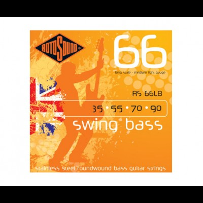 rotosound RS66LB Swing Bass Roundwound Strings Stainless Steel (35-90)