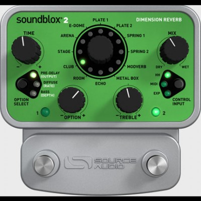 Source Audio Soundblox2 Dimension Reverb Pedal SA225