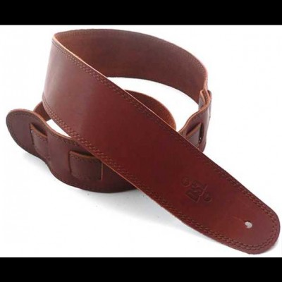 DSL Leather 2.5 Inch Tan with Brown Stitching SGE25-16-2