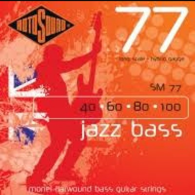 SM77 Jazz Bass Flatwound Hybrid (40-100)