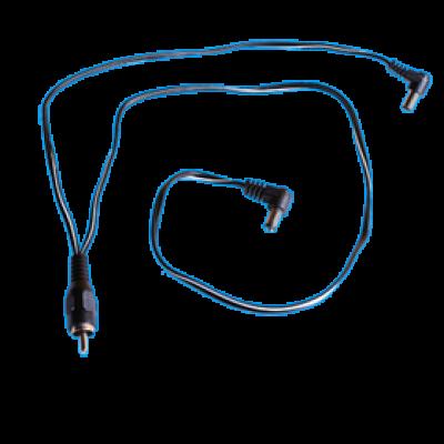 Cioks Special Split Flex type 1, 5.5/2.1mm centre negative DC-plug (black)