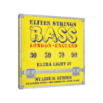 Elites Stadium 30-90 Stainless Steel Bass Strings, Long Scale