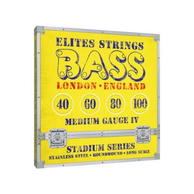 Elites Stadium 40-100 Stainless Steel Bass Strings, Long Scale