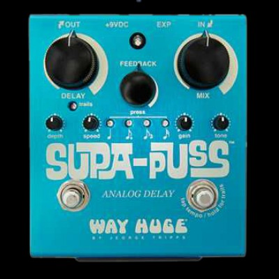 Way Huge Supa Puss Analogue Delay Pedal with Tap Tempo WHE707