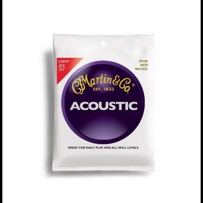 Martin 80/20 Bronze Acoustic Guitar Strings 12-54 M140