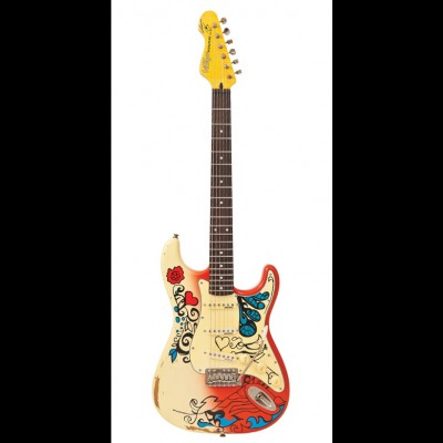 Vintage V6MRHDX Icon V6 Blug, Summer of Love Guitar