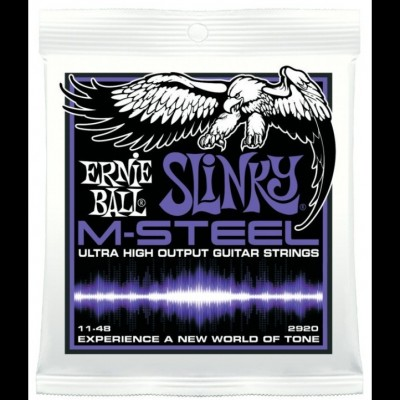 Ernie Ball 2920 M Steel Power Slinky Guitar Strings 11-48