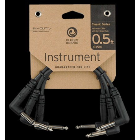 Planet Waves Planet Waves PW-CGTP-305 6' Right Angle Patch Cables 3 Pa