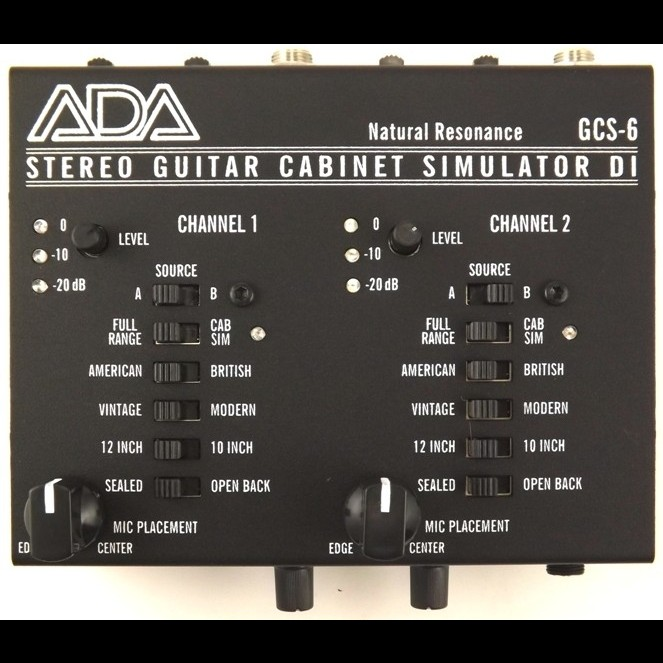 Ada Gcs 6 Stereo Guitar Cabinet Simulator Hot Rox Uk