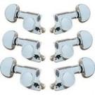 Grover Machine Mini Rotomatics Locking machine Heads - Chrome 205C