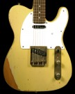 Vintage V62 Electric Guitar, Distressed Ash Blonde