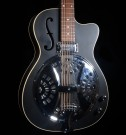 Vintage VRC800BK Resonator Guitar