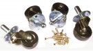 Fender Caster Wheels with Hardware (Set of 4)