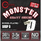 9456 Monster Heavy Drop D 11-56 NPS Electric Strings
